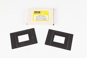 LPL Glassless 5x5cm Slide Inserts for Universal Neg Carrier. C6700/7700 Enlarger