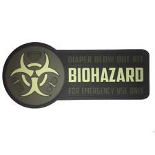 """""""Biohazard"""" PVC Tactical Morale Patch with VELCRO® Brand Backing for Diaper Bags"""