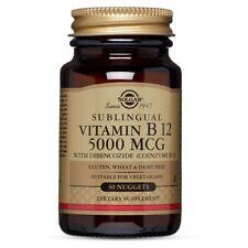 Solgar Vitamin B12 5000 mcg - 30 Nuggets FRESH, FREE SHIPPING, MADE IN USA