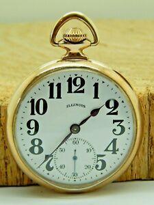 Serviced antique pocket watch Illinois Sangamo special 23 jewels model 10 48HR