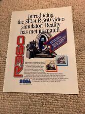 """11-8 1/4"""" R-360 Sega ARCADE VIDEO GAME FLYER"""