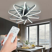 LED Ceiling Light Fan Fixture Dimmable With Remote Control Modern Remote Control