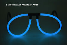 6 Count DirectGlow Aqua Glow Stick Eyeglasses Glow in The Dark Party Favors