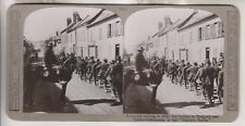 WWI BRITISH STEREOVIEW - PRISONERS COMING IN AFTER THE REPULSE AT HANGARD