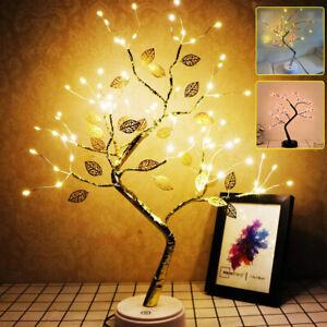 LED Lichterbaum Leuchtbaum Nachtlicht Leuchtend Tischlampe Warmweiß Party Dekor