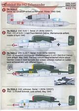 Print Scale Decals 1/72 HEINKEL He-162 SALAMANDER German Jet Fighter