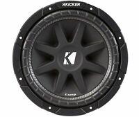 Kicker C104, Comp 10'' Single 4 Ohm Voice Coil Car Subwoofer, 300W (43C104)