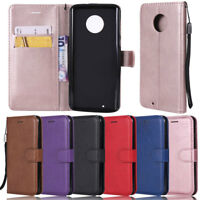 Slim Wallet Leather Flip Cover Case For Motorola Moto G9 Plus G9 Play G8 Plus G7