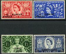 Kuwait Coronation of QEII Complete Set 4 MNH OG Scott's 113 114 115 & 116