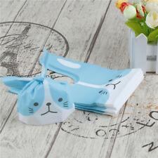 50pcs Dog Face Bunny Gift Bags Birthday Wedding Party Dessert Candy Easter MW Blue
