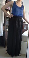 Armani Black Wide Leg Pants High Waist Palazzo Culotte Silky 4 10 12 28-30W 31L