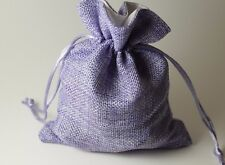 Purple Gift Bag Large Game Dice Bag w/White Lining Pouch False Jute Fabric Nice