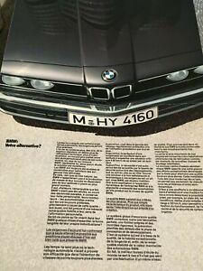 Catalogue / Brochure BMW SERIE 5/SERIE 3/SERIE 7/SERIE 6/M 635 CSI de 1983