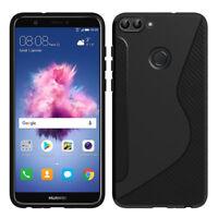 "Etui Coque Housse TPU Silicone Gel Motif S-Line Huawei P smart 5.65""/ Enjoy 7S"