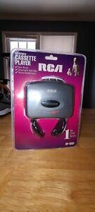 New RCA Stereo Cassette Player Model RP-1800,bass boost & headphones walkman NIP