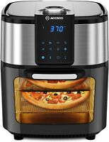 MOOSOO Air Fryer Oven 12.7 Quart 1700W 8-in-1 Oil Free Led Display Touchscreen
