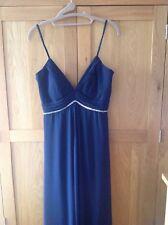Coast Oli Anna Dress Navy Blue Beaded Size 10 NEW Bridesmaid Maxi