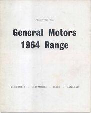 General Motors Chevrolet Oldsmobile Buick Cadillac 1964 Original UK Brochure