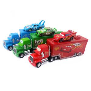Disney Pixar Cars Mack McQueen & Chick Hicks & King Truck Toy Model Kids Gift
