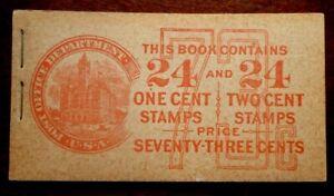 Buffalo Stamps:  Scott #BK56 Unexploded Booklet, CV = $80