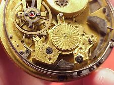 VINTAGE Skeleton French 1/4 Repeater High Grade Movement 52MM Pocket Watch