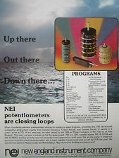 12/1977 PUB NEW ENGLAND INSTRUMENT NEI POTENTIOMETER AIRCRAFT MISSILE AD