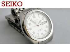 NOS SEIKO 5 7S26-00X0 rare white dial automatic watch on Jubilee bracelet