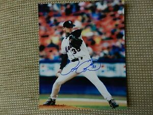 RICK REED NY METS Autographed 8x10 PHOTO