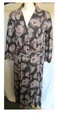 BODEN LARGE ROSE DESIGN BELTED VINTAGE STYLE TEA DRESS SIZE 16 L UK   12 L US