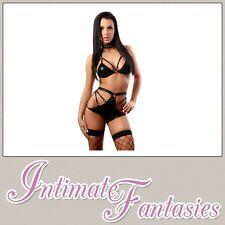 Lencería Sexy Aspecto Mojado Bikini Adulto Juegos con disfraces Club Wear Talla 8 10 12