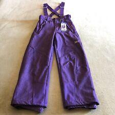 Weatherproof Snow Kids Ski Pants Bibs Size 14/16 32 Degree Purple Snowboard New