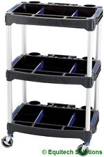 Draper 04612 Tool Parts Storage Trolley Paddock Cart 3 Level Garage Workshop