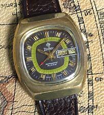 Zodiac Cal. 95 AS5008 Working Automatic Alarm 37mm Day Date Watch Reloj AS 5008