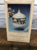 Vintage 1984 Hallmark Ornament Baby's First Christmas Musical With Box