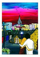 'Love Is In The Tenby Air' Art Print By Burt (Signed and Mounted)