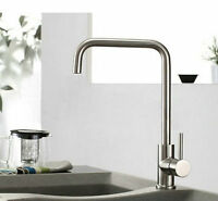 Newly Brushed Nickel Kitchen Sink Bar Swivel Faucet Basin Mixer Tap Deck Mounted