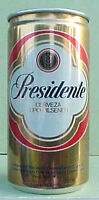 PRESIDENTE CERVEZA 10 oz, empty Metallic Pull Tab Beer CAN DOMINICAN REPUBLIC 1+