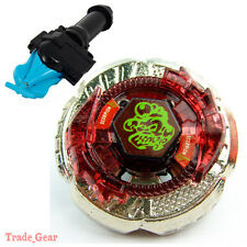 BB-65 Rock Escolpio BEYBLADE Masters Fusion Metal+GRIP+BLUE SPIN LAUNCHER