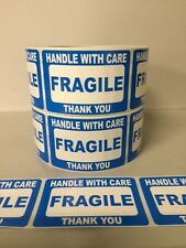 250 2x3 FRAGILE Stickers Self Adhesive Handle with Care Stickers Shipping Labels