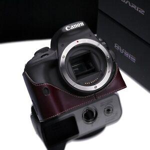 GARIZ Genuine leather case Canon  SL1 100D Brown XS-CH100DBR