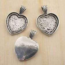 2pcs antiqued silver heart shape photo frame G1543