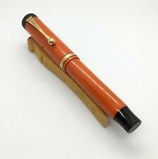 Parker Duofold Jr Fountain Pen Red Super Flexible 14k nib RESTORED