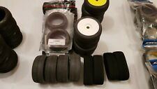 4 BRAND NEW SETS OF AKA WISHBONE TYRES WITH INSERTS & TLR WHEELS