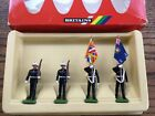 W Britain Hand Painted Royal Marines Colour Party x 4 Boxed Set c1986