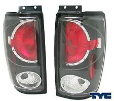 1997-2002 Ford Expedition Tail Lights in Black TYC DOT PAIR
