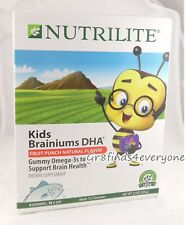 AMWAY Nutrilite KIDS BRAINIUMS DHA 112 FRUIT PUNCH Gummies OMEGA-3s 01/2021 NEW