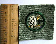 RARE 1928 Girl Scout SCHOLARSHIP BADGE Owl Lamp Knowledge Patch Book Finder NEW