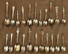 Antique 22 Sterling Silver Souvenir Spoon Collection 44 Pictures