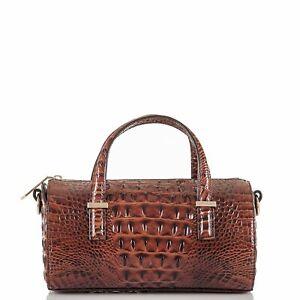 Brahmin Claire Pecan Melbourne Leather Barrel Satchel Crossbody Bag New $255