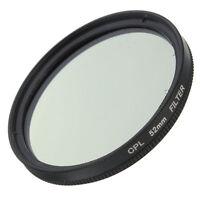Slim 52mm CPL Circular Polarizing Filter PL-CIR For Canon Nikon 52mm Lens